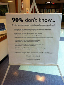 90% don't know… West End Community Center ADHD Awareness Week 2013 Large Poster #2
