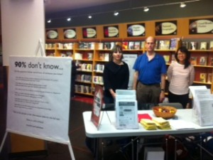 ADHD info table at brighouse library richmond adhd awareness week 2013 #2