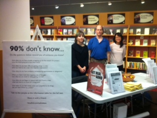 ADHD info table at brighouse library richmond adhd awareness week 2013 #3