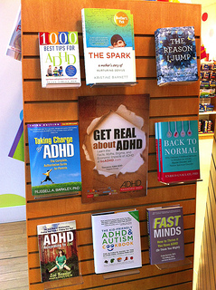 Photo of Chapters Robson Vancouver ADHD Awareness Week book display 2013