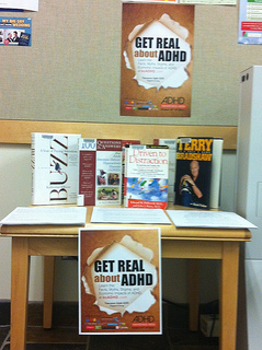 Photo of Parkgate Library North Vancouver District ADHD Awareness Week Display 2013
