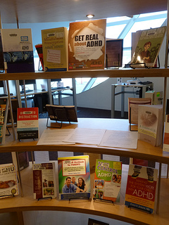Photo of the City Center Library in Surrey BC ADHD Awareness week book display #1