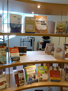 Photo of the City Center Library in Surrey BC ADHD Awareness week book display #2