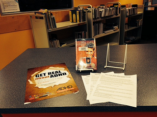 Photo of the Hope Library ADHD Awareness Week book display 2013 photo