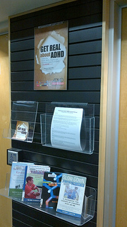 Photo of the Newton Library in Surrey BC ADHD Awareness Week book display #1