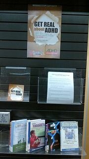 Photo of the Newton Library in Surrey BC ADHD Awareness Week book display #2