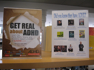 Photos of Capilano Library North Vancouver District ADHD Awareness Week book display #1