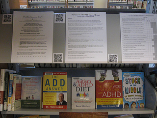 Photos of Capilano Library North Vancouver District ADHD Awareness Week book display #2