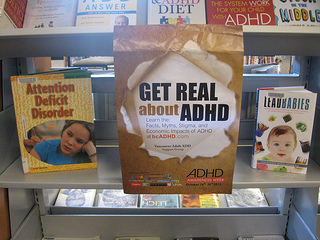 Photos of Capilano Library North Vancouver District ADHD Awareness Week book display #3