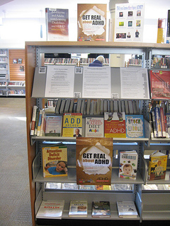 Photos of Capilano Library North Vancouver District ADHD Awareness Week book display #4