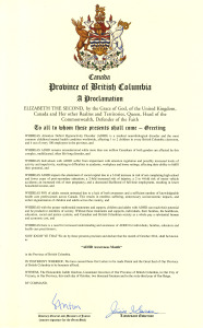 Proclamation BC lieutenant governor declares October ADHD Awareness month first province in Canada to do so