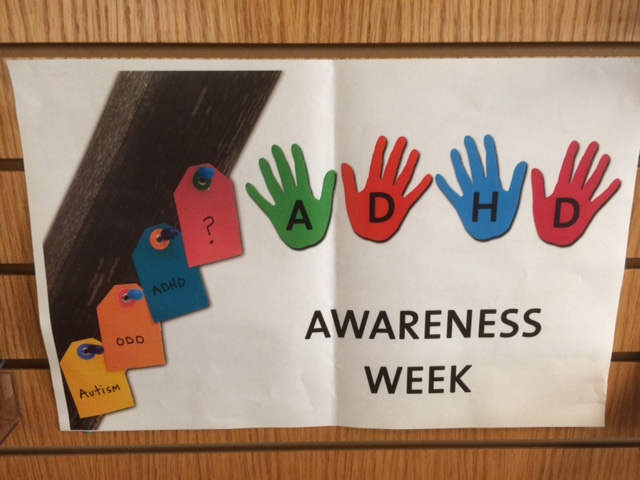 New Westminster Public Library BC ADHD Awareness week book display photo 2015 Thanks Christopher IMG_5887