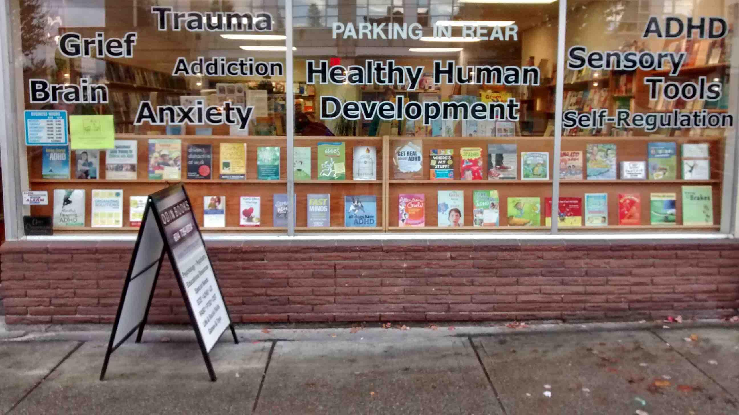 Odin books BC ADHD Awareness week book display photo 2015 #2