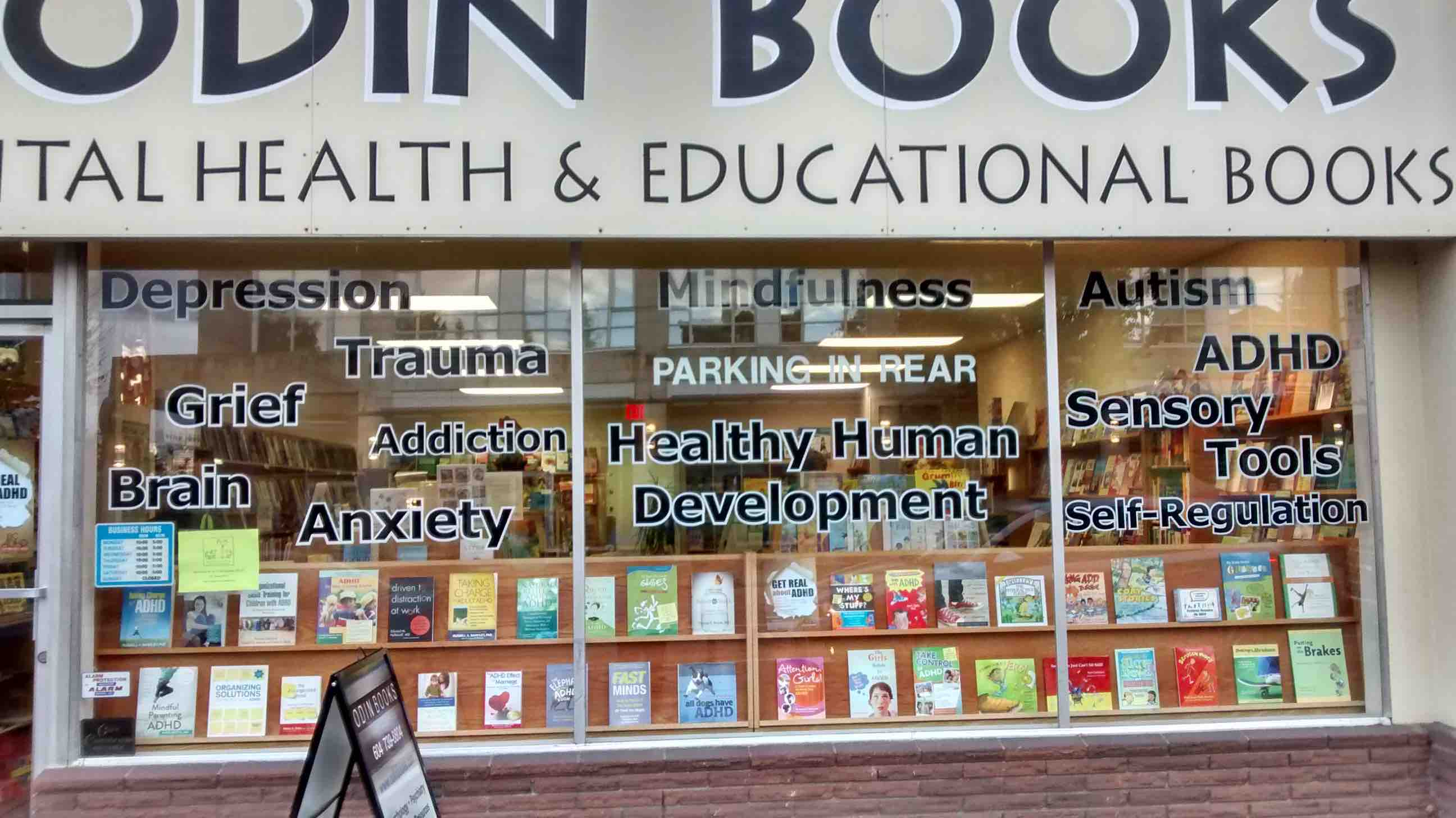 Odin books BC ADHD Awareness week book display photo 2015 #3
