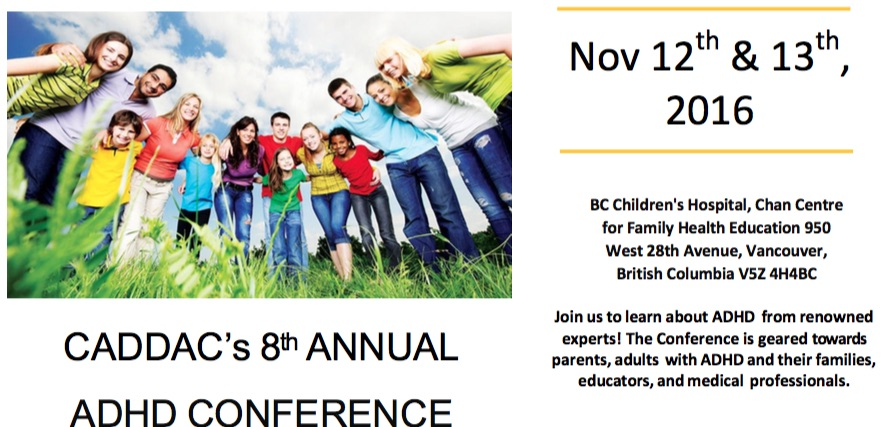 CADDAC ADHD Annual Conference in Vancouver, BC