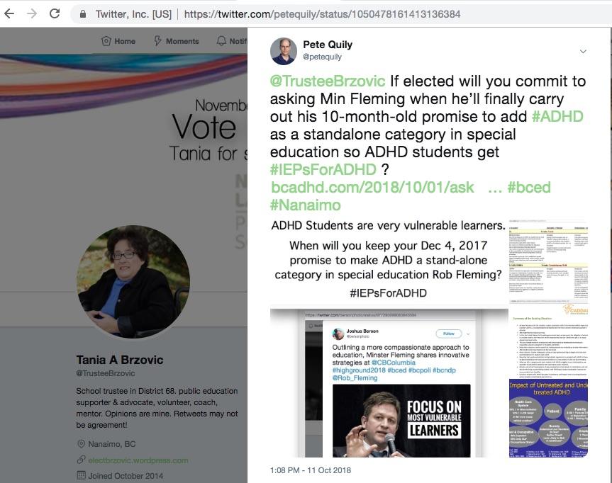 @TrusteeBrzovic in Nanaimo supports #IEPsForADHD 1