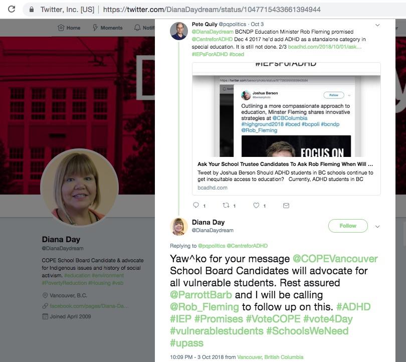 Diana DayDream Tweet