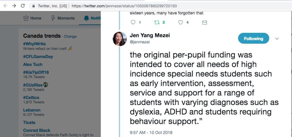 Jen Yang Mezei Burnaby Citizens Association School Trustee supports #IEPsForADHD 2