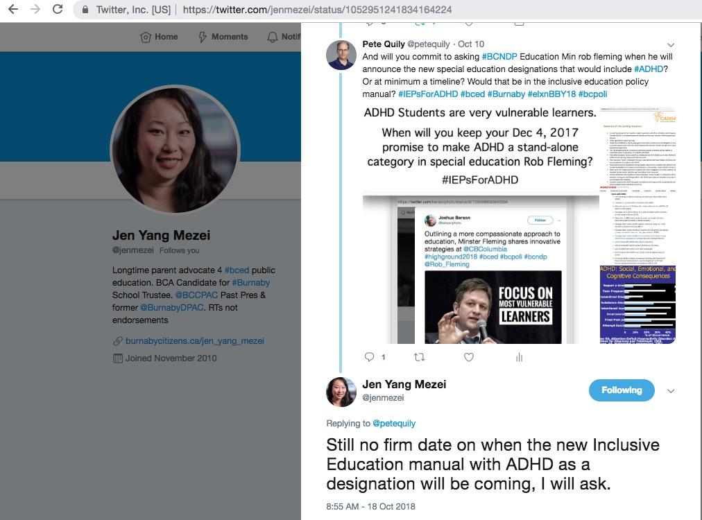Jen Yang Mezei Burnaby Citizens Association School Trustee supports #IEPsForADHD 7